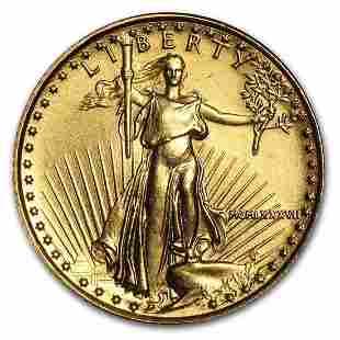 Gold American Eagle BU (MCMLXXXVII), 1987 1/10 oz