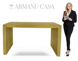 ARMANI / CASA Modern Luxury Yellow Console