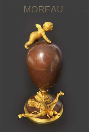 A Louis Auguste Moreau (1855-1919) Bronze Box