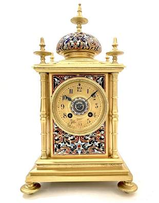 A French Champleve Bronze Clock