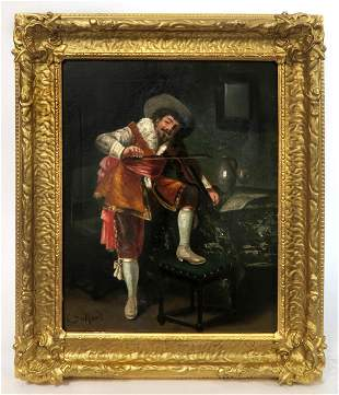 The Spanish Serenade, O/C Painting By Francois Dumont