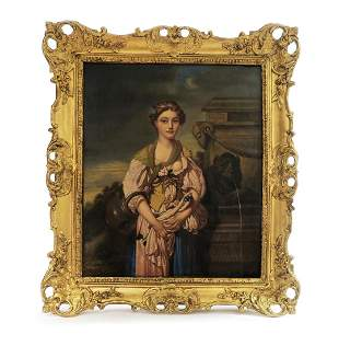 Fine 19th C. French School Oil on Canvas