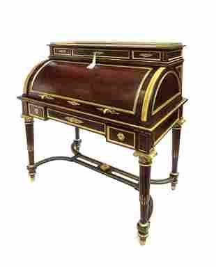 19th C. French Louis XV Revival Mahogany Ladies Desk