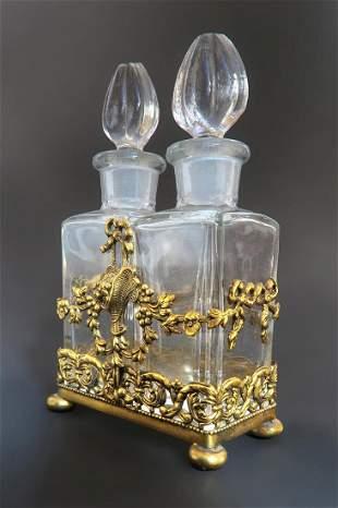 Apollo Studios Bronze & Crystal Perfume Bottles