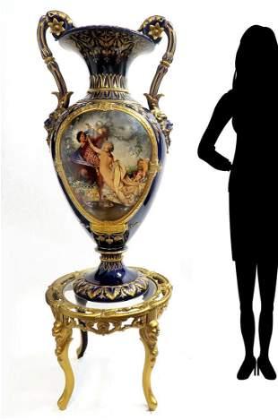 19th C. Monumental Royal Vienna Style Vase
