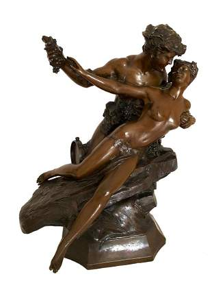 19th C Barbedienne Bronze Sculpture, J. Duclling Signed