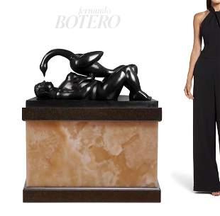 Leda & Swan, A Large FERNANDO BOTERO Bronze Sculpture