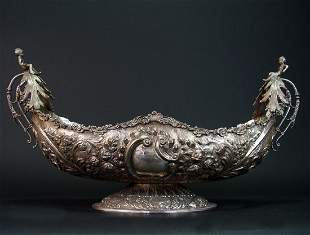 Magnificent 19th Century German Sterling Silver Bowl