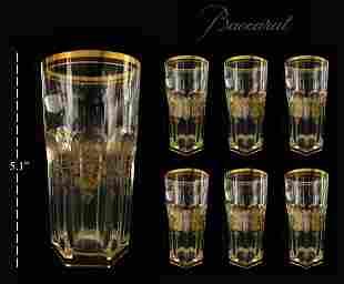 Set of 6 Harcourt Empire Baccarat Crystal Highballs