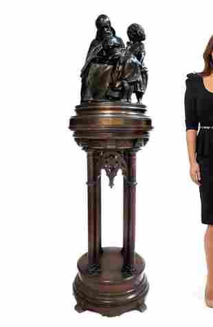 """A Large Religious Bronze Figural Group """"Vendredi Saint"""""""