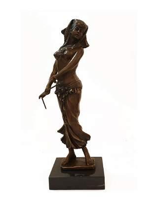 Egyptian Dancer, An Aldo Vitaleh Original Bronze Statue