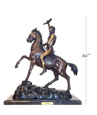 Large size Patina-ted Bronze Statue By Remington