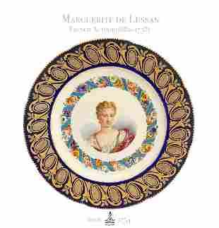 18th C. Sevres Portrait of Marguerite de Lussan Plate