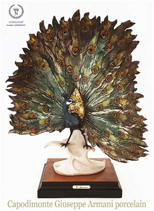 Charm Peacock, A Capodimonte Giuseppe Armani Sculpture
