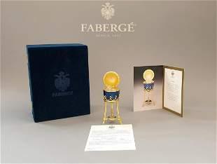 Faberge Menagerie, The Swan Surprise Cobalt Blue Egg