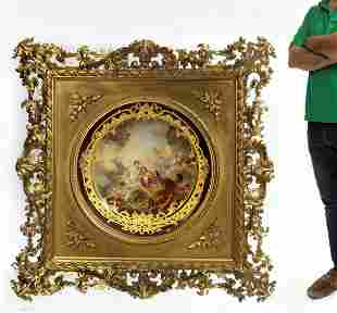 Monumental Framed Museum Quality Royal Vienna Charger