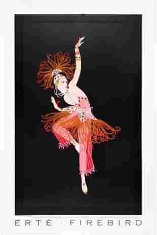 Firebird, A Large ERTE Lithograph Poster, 1995