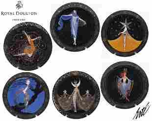 Royal Doulton & House of ERTE Decorative Plate Full Set