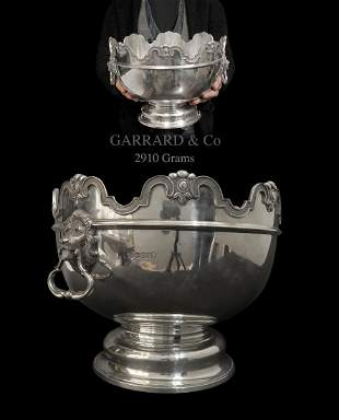 Large Garrard & Co. Sterling Silver Figural Centerpiece