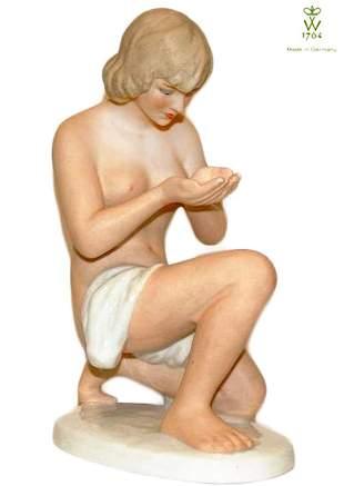 Kneeling & Drinking Water, Steiner Wallendorf Figurine