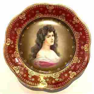 Lady Amorosa Portrait, Royal Vienna Decorative Plate