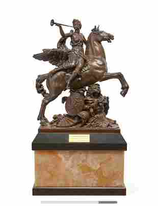 A French Bronze on Onyx & Granite Plinth By Gautier