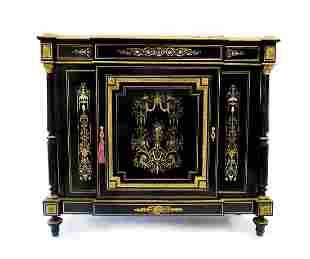 Charles Guillaume Diehl Bronze Ebonised Inlaid Cabinet