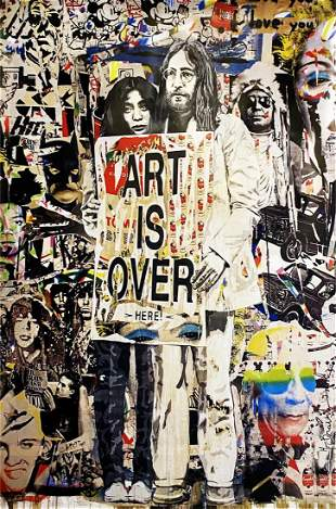 ART IS OVER HERE, Rare Mr. Brainwash Lithograph Poster