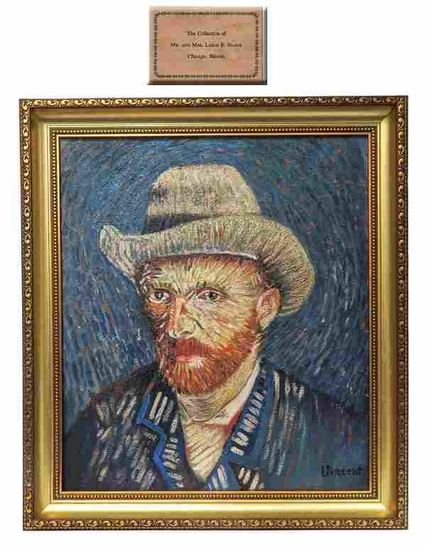 Self-Portrait / Grey Felt Hat, After Vincent Van Gogh