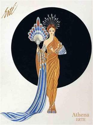 Athena, A Vintage ERTE Lithograph Poster, 1999