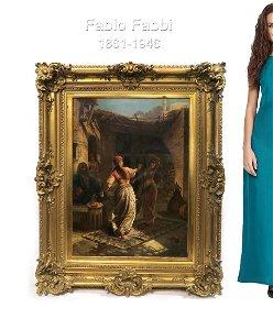 Oil on Canvas, Fabio Fabbi (Italian, 1861-1946)