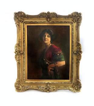 George Edgar Hicks (1824-1914) Framed Oil on Canvas