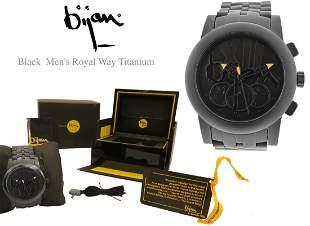 A BIJAN Black Men's Royal Way Titanium Wrist Watch