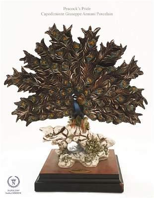 Peacock's Pride, A Capodimonte Giuseppe Armani Statue