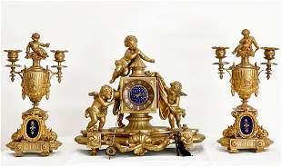 19th Century French Clock Set