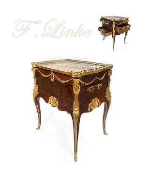 Exceptional F. Linke Mahogany/Ormolu Side Table/Cabinet
