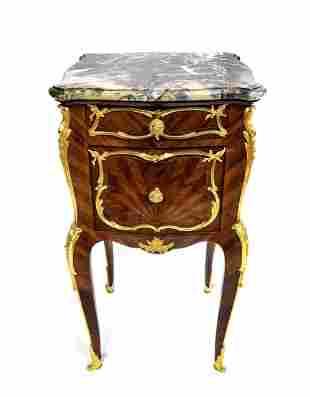 F. Linke Bronze Mounted Kingwood Side Table. Signed