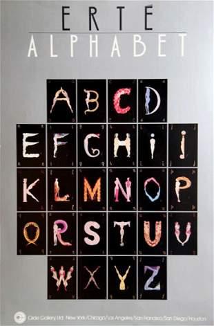 Erte Silver Alphabet, Vintage ERTE Lithograph Poster