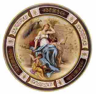 19th C. Royal Vienna Hand Painted Cabinet Plate