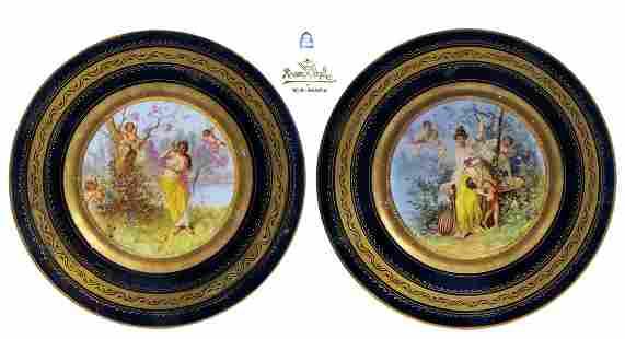 A Pair of 19th C. Royal Vienna / Rosenthal Plates