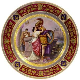 19th C. Royal Vienna Decorative Cabinet Plate