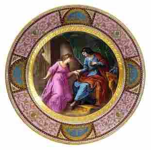 19th C. Royal Vienna Decorative Plate