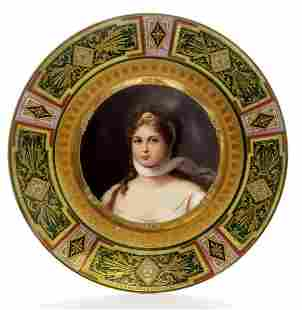 Portrait Of Prussia Queen Louise, A Royal Vienna Plate