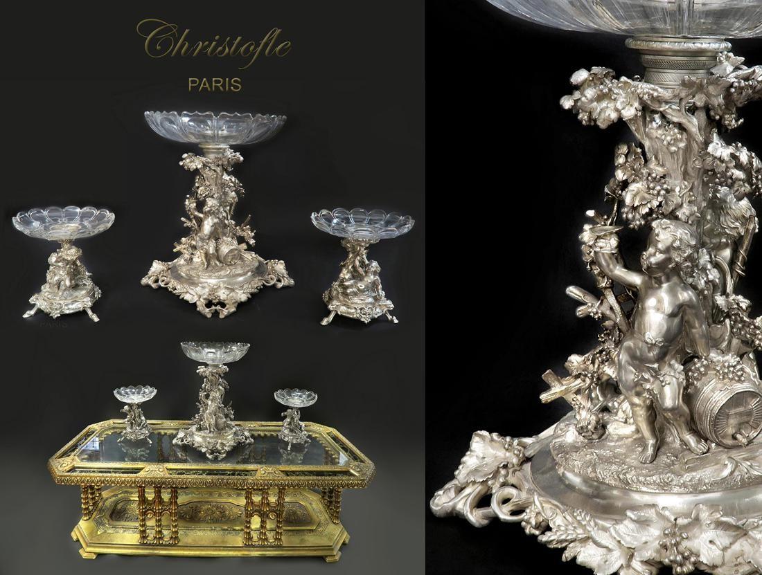 19th C. Large French Christofle Garniture Set
