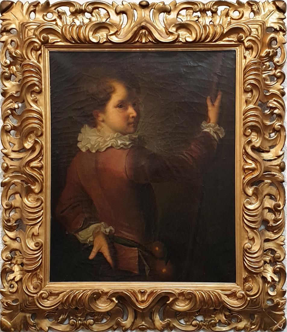 19th C. French Framed Oil On Canvas Painting