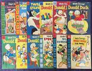 Lot of (12) Dell High Grade Disney Comics