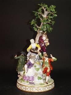 19th C. Meissen Musical Porcelain Figurine Group