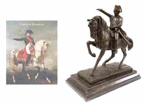 Napoleon, Aldo Vitaleh Original Bronze Figurine Group