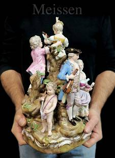 A Large 19th C. German Meissen Figurine Group