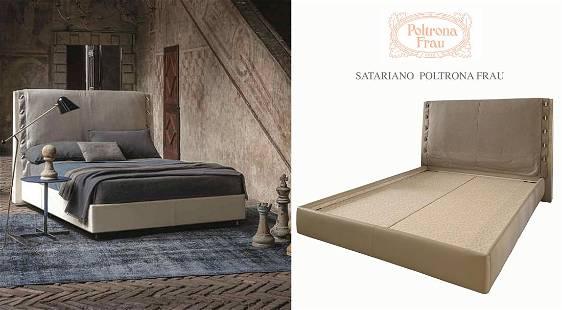 A LARGE SATARIANO POLTRONA FRAU MODERN HEADREST BED